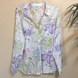 Old Navy Floral Watercolor Shirt